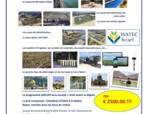 ISRAGRO propose des séjours exceptionnels pour le salon Watech 2019